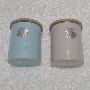 New tea and coffee canisters